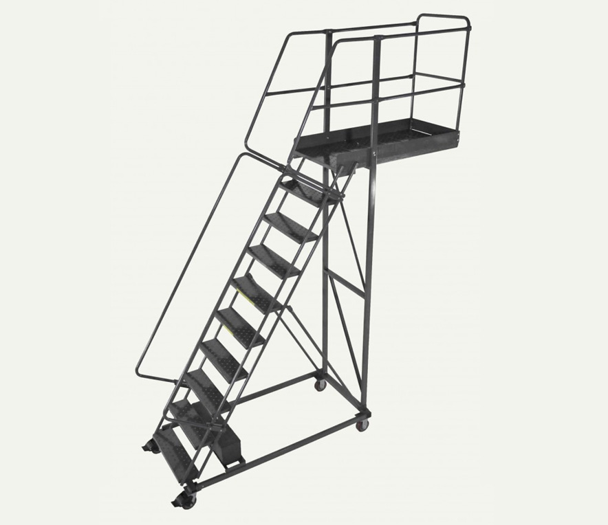 Pharmaceutical Supplies, Steel Rolling Ladders With Platform, Safety ladders, steel ladders, aluminum ladders, stainless steel ladders