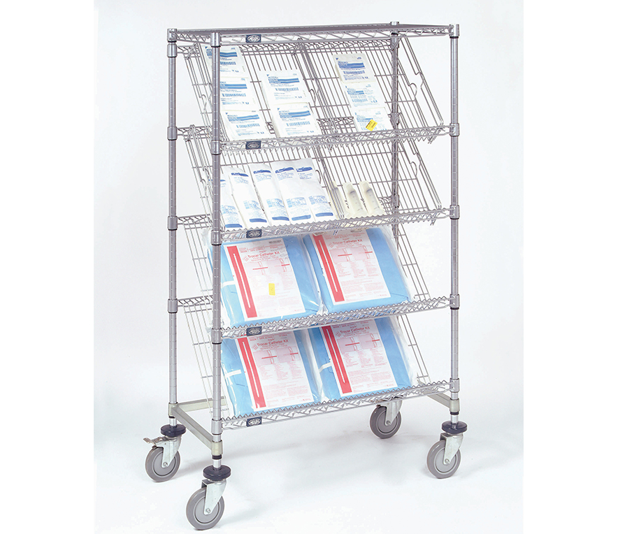 Pharmaceutical Supplies - Slant Shelf, Shelving