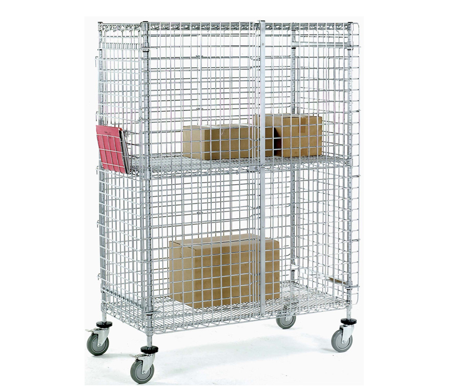 Pharmaceutical Supplies - Wire Storage Mobile Cart with book holder, Wire Storage