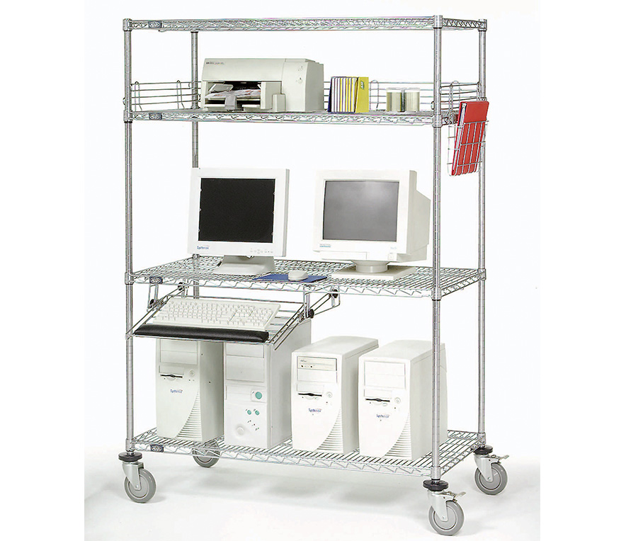 Pharmaceutical Supplies - Mobile LAN Station, Wire Storage