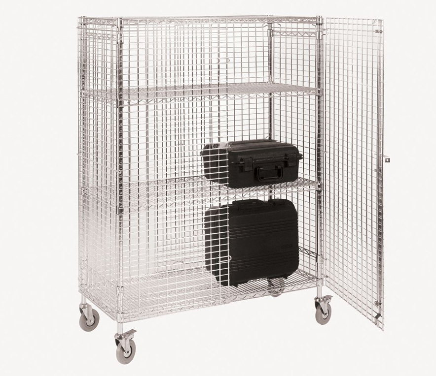 Pharmaceutical Supplies - Wire Storage Mobile Security Cage, Wire Storage